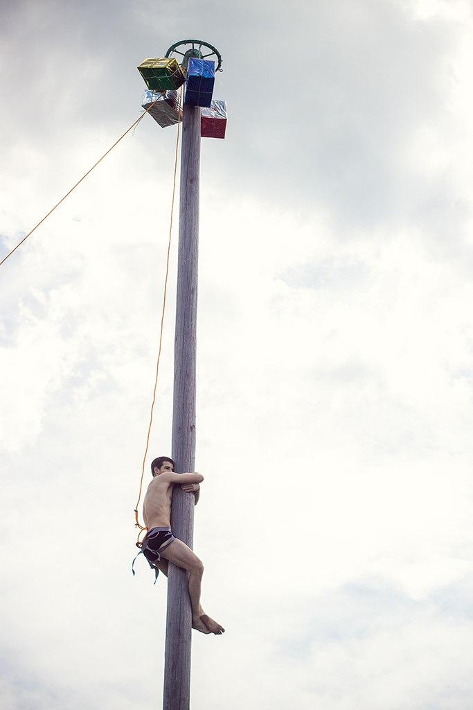 Лазание на столб. Сабантуй. Ульяновск