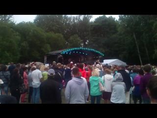 Стиг Ряста и Элина Борн с группой 16.08.2015