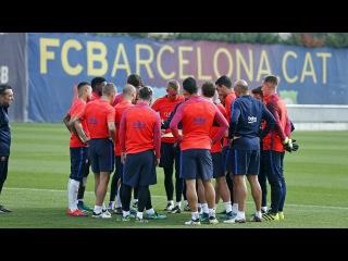 Тренировка: Второе занятие перед матчем с Севильей (04/11/2016)