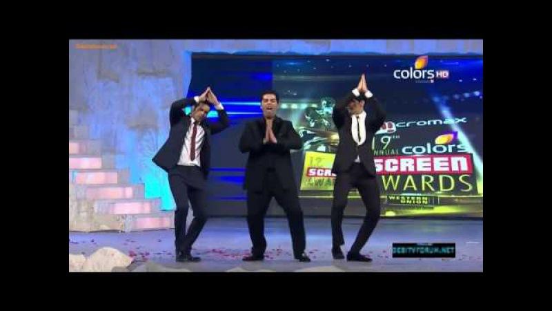 Siddharth Malhotra, Varun Dhawan Karan Johar's masti on 19th Colors Screen Awards 2013
