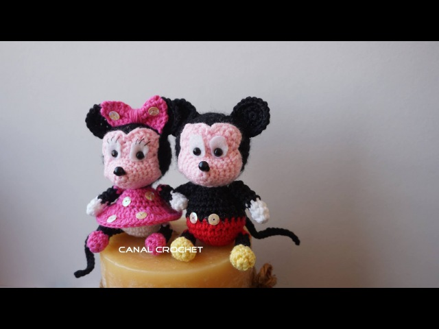 Mickey y Minnie amigurumi tutorial