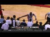 Wade trolls Oladipo after crashing into him courtside | Raptors vs Heat | Game 6 | May 13, 2016