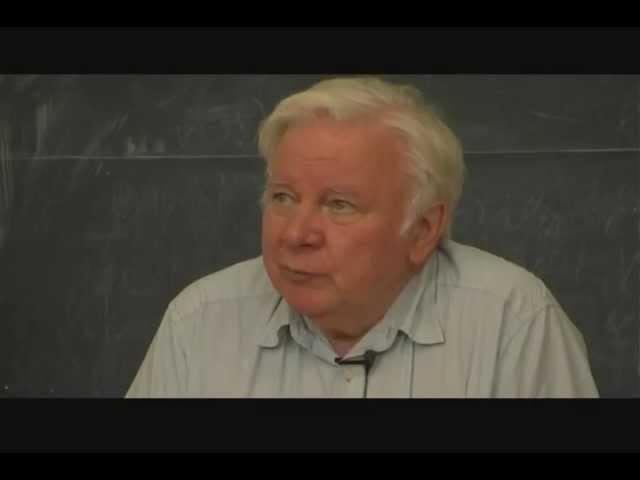 Лекция академика Захарова в НГУ — «Солитоны»