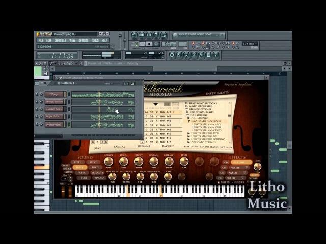 Inspirational Instrumental piano - Fl studio 10 - EzKeys, Philharmonik, AGML, Real Guitar 3