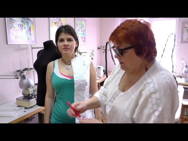 Выкройка летнего сарафана. Как сшить платье своими руками Моделирование от базовой основы. Часть 1.