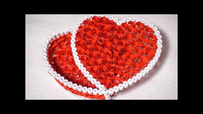 Quilling Gift Box Ideas| DIY Heart for Valentine | HandiWorks 53