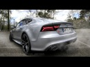Acceleration Audi RS7 2016 performance 605 HP sound exhaust