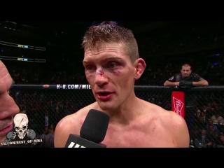 UFC 205: Послематчевое интервью Тайрона Вудли и Стивена Томпсона