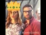 Comic-Con | Фиби, Джозеф Морган и Дэниел Гиллис в фтобудке