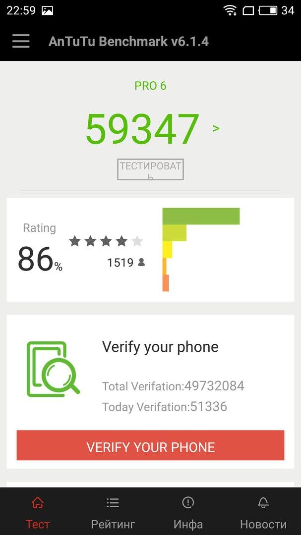 Meizu Pro 6 64Gb Silver Серый фото