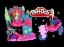 Play Doh Sparkle Ariel's Undersea Castle Magiclip Disney Frozen Mermaid Elsa Anna Magic Clip