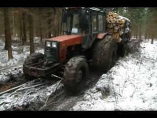 МТЗ-82 Легендарный трактор на бездорожье - YouTube
