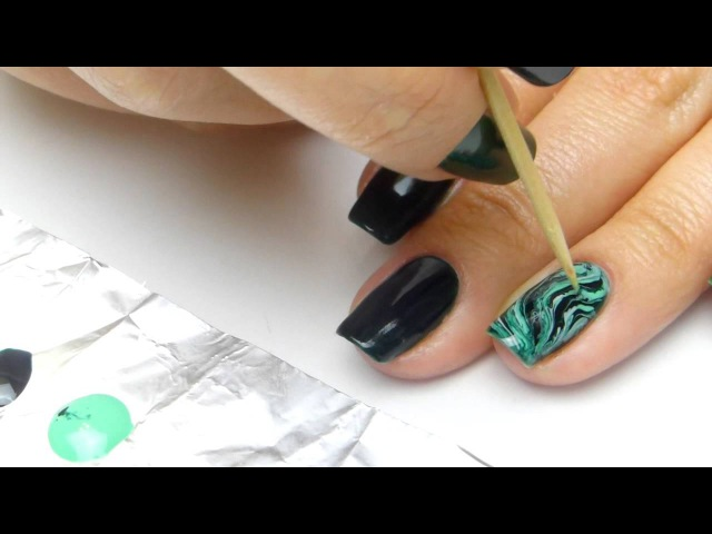 Мраморный маникюр с MultiLac от ruNail professional