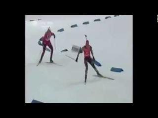 ЧМ 2008, Эстерсунд. Масс-старт. Нойнер vs Бергер