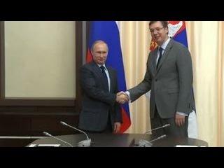 Владимир Путин провел встречу с премьером Сербии