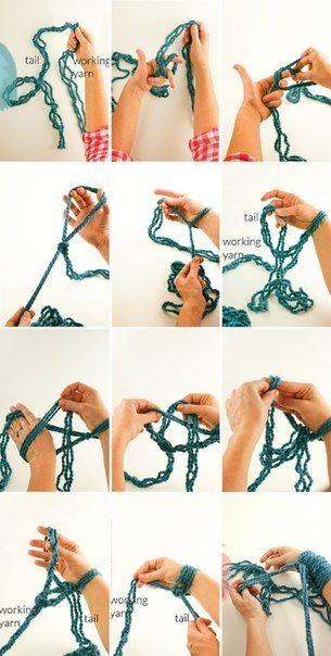 Вязание руками
