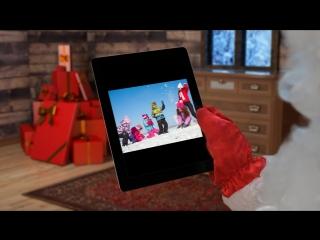 """Видео-поздравление от """"ВидеоДедМороз"""" для нескольких детей."""
