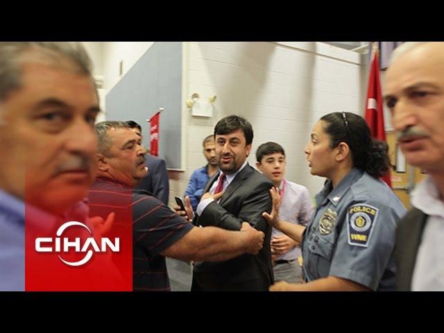 AKP taraftarları, Ahıska Türkleri'nin panelini bastı