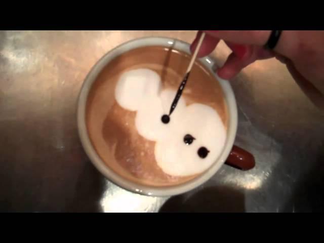 Latte Art Snowman