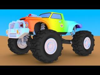 Мультики про машинки. Конструктор: cобираем внедорожник монстр-трак (Monster Truck)