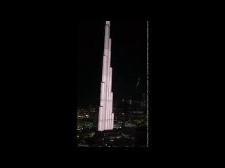 Пожар в Дубае Горит отель-небоскреб видео с вертолета 31.12.15