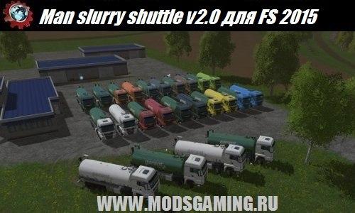 Farming Simulator 2015 download mod truck Man slurry shuttle v2.0