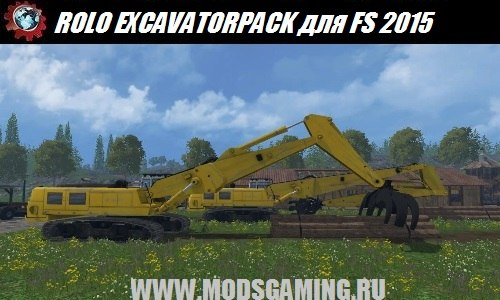 Farming Simulator 2015 download mod excavator ROLO EXCAVATOR FOREST PACK BETA