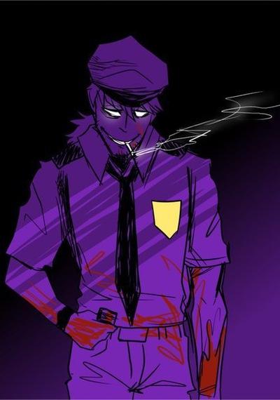 фиолетовый парень картинки фнаф