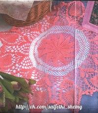 филейное вязание салфетки схемы