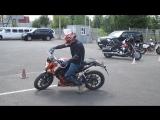 Без рук (No Hand) мотоцикл KTM Duke - Царевич.Ру [Motoshkola.Ru]