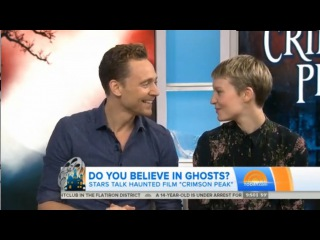Tom Hiddleston and Mia Wasikowska on the Today Show, Oct. 14 2015