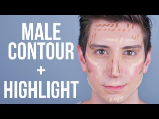 Contour + Highlight Tutorial for Men \\ Male Makeup