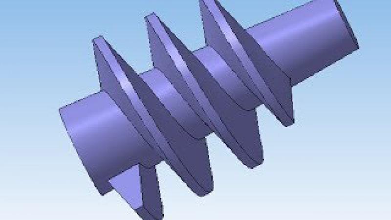 3d модель шнека