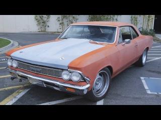 1966 Chevelle на LSe, расширение колёсных арок изнутри и бёрнауты! - Hot Rod Garage Ep. 35