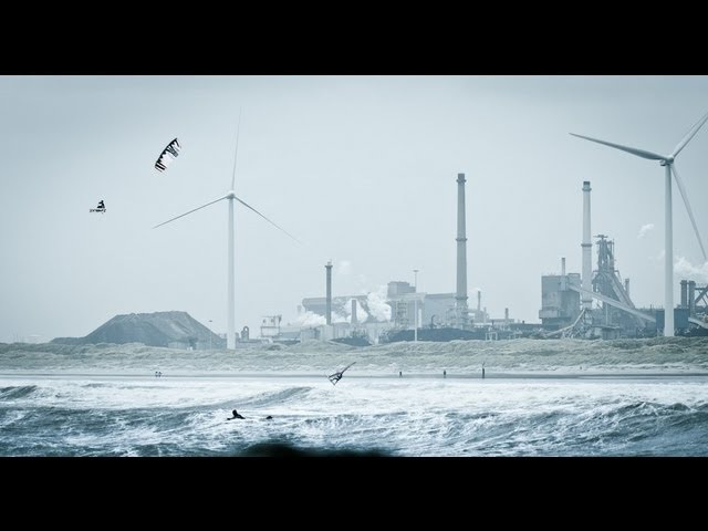 Extreme Kiteboarding in Ireland Holland - Ruben Lenten 2013