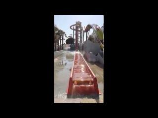 Водная горка Камикадзе. Аквапарк WaterWorld Айянапа, Кипр