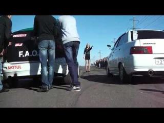 LADA Calina VS Lada 2110 Drag Racing