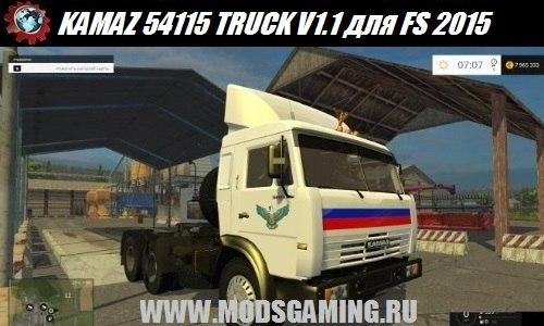 Farming Simulator 2015 download mod truck KAMAZ 54115 TRUCK V1.1