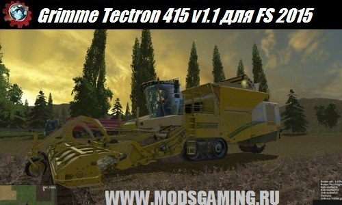 Farming Simulator 2015 download mod harvester Grimme Tectron 415 v1.1