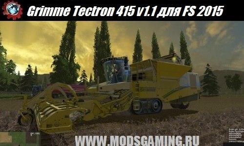 Farming Simulator 2015 download mod harvester Grimme Tectron 415 v1.1