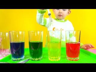 Делаем радугу. Научный эксперимент. Science Experiments  Rainbow
