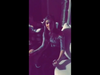 Selena gomez, haliee steinfeld  friends dancing to love myself at a party at selenas house in ca