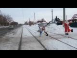 Пьяный дед мороз и снегурочка