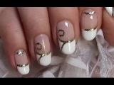 Verzierte French Nägel / Schnörkel Hochzeit Nageldesign / Wedding Nails