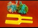 Как сделать помпон Помпон на вилке Изготовление помпонов Making pompons on the template