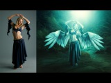 Photoshop Photo Manipulation Tutorial  Effects Feather Girl