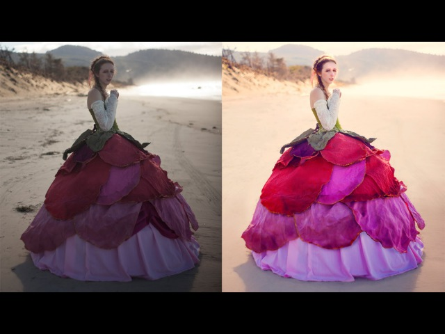 Adobe Photoshop Tutorials CC Creative Cloud How to retouch fashion photography natural back lighting