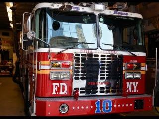 Пожар в Нью-Йорке, пожарные в США