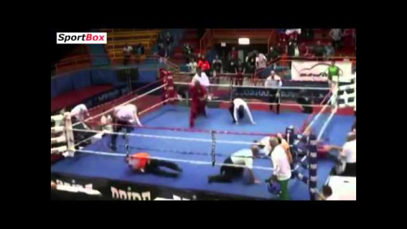 CRAZY ASSAULT! Croatian young fighter Vido Loncar KOed referee at EURO 2014 Boxing Championship!