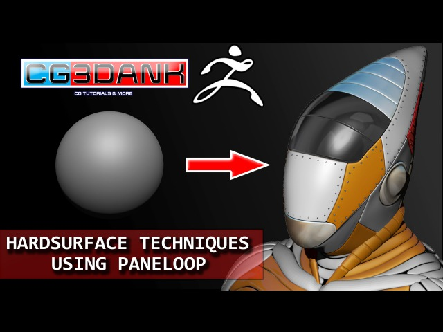 ZBRUSH TUTORIAL--HARD SURFACE TECHNIQUES_SCI FI HELMET 2(PANELOOP) IN DETAIL